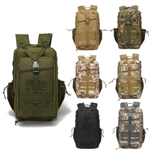 Outdoor Sports Wasserdichte Taktische Packtasche / Rucksack / Rucksack / Angriffskombination Camouflage Taktische Camo Molle 30L Rucksack No11-006