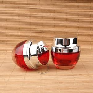 İyi kalite10pcs / lot yüksek kalite 30g cam kırmızı krem kavanoz kadın kozmetik konteyner losyon şişesi şerit kap 1 oz göz farı 30 ml doldurulabilir po