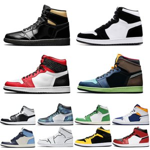 retro 1s Hommes Chaussures De Basketball Triple Noir Blanc Bred Banned To Shadow Camo Royal Bleu Jumpman 1 Femmes Baskets De Sport Baskets Taille 36-46