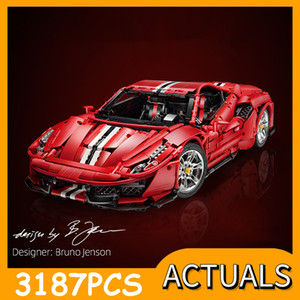 Cada MOC Technic Car Series The Master Italian Super Racing Car 488 Model Building Blocks Bricks Toys For Kids Christmas Gifts Q0123