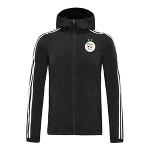 20 21 algeria trendy men's football sports jacket zipper hooded football training jacket fashionable color control jacket