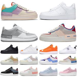 af1 2020 Kuvvet Güçleri 1 Dunk Düşük Gölge Erkek Kadın Ayakkabı Programı Üçlü Soluk Fildişi Açık Erkek Bayan Eğitmenler Spor Ayakkabıları
