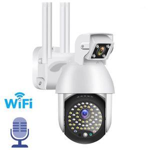 Dual lens 1080P IP Camera Wifi Outdoor Speed Dome Wireless Wifi Security Camera Pan Tilt 4X Digital Zoom 2MP CCTV Surveillance1