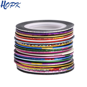 30 Pcs  Set Laser 3D Striping Foil Washi Tape Set Line DIY Adhesive Tape Scrapbooking Nail Decoration Sticker Masking Tape T200229 2016