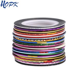 30 Pcs  Set Laser 3D Striping Foil Washi Tape Set Line DIY Adhesive Tape Scrapbooking Nail Decoration Sticker Masking Tape T200229 2016