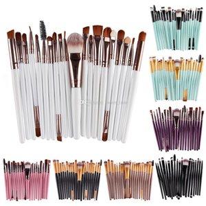 Hot Sale 20pcs set Professional Eyebrow Makeup Brush Eyeshadow Beauty Cosmetics Foundation Powder Brush Kit Face Lip Blending Brush Tools