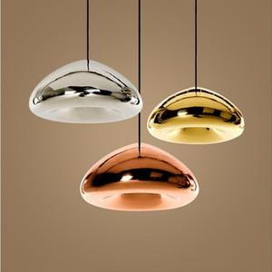 Gold / Silver / Copper Lampshade Pingente de vidro Luz luminárias de iluminação moderna Restaurante de cozinha contemporânea nórdico