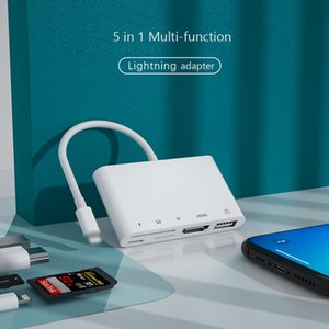 Lightning To 1080P HDMI Cable USB SD TF Card Reader Digital AV TV OTG Adapter Hub For iPhone 12 Pro Max SE iPad Mini Pro