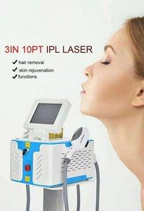 Machine d'épilation OPT IPL ND YAG Tatouage Laser Tatouage Remova Élimination spot Skin Rajeunissement de la peau de lavage avec 2 poignées laser Machine beauté