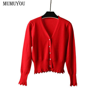 Women Ruched Kintted Coat Long Sleeve Multicolors Solid Long Sleeve Single Breasted Cardigan Jacket Slim Outwear Autumn 810-029