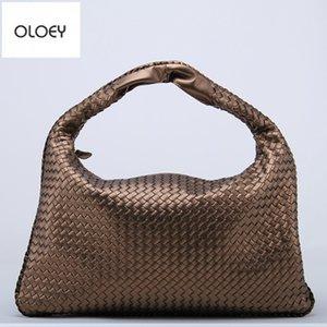 Oloey Nuovo classico donna intrecciata sacchetto stella modello imitazione pelle di pecora gnocco borsa casual borsa a tracolla borsa grande capacità borsa da grande capacità c0121