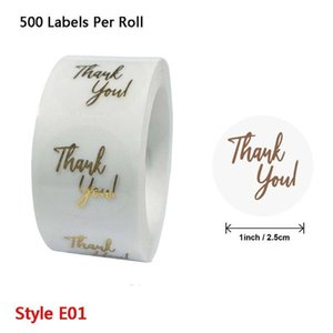 500pcs Thank You for Your Order Stickers Gold Foil Seal Labels for Small Shop