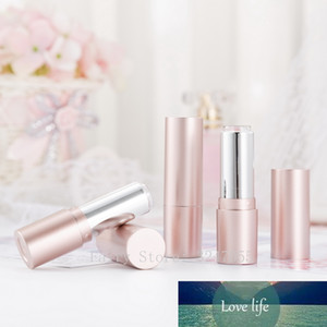 12.1mm 100pcs Empty Matte Rose Gold Round Lipstick Tube, DIY Plastic Lip Balm Container, Portable Cosmetics Packaging