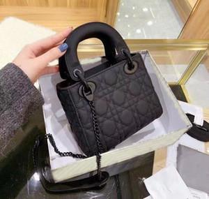 Top 3a Marque Mini Designer Boîte de luxe Boîte de luxe Lady Bandoulière Sac en cuir Houndstooth Tissu Crossboybag Saddle Sac à main de haute qualité Sac à main