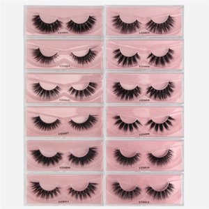 12styles 100% mink eyelash 3D mink hair natural thick 3d false eyelashes long cross eyelashes free ship
