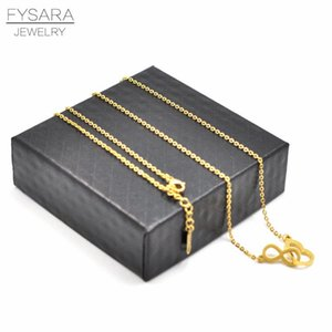 Fysara Fashion Love Necklace Pendants Heart Infinity Short Necklace For Women Stainless Steel Jewelry Silver Statement Choker sqcqXw