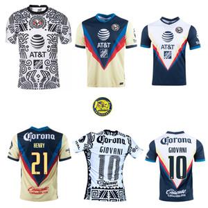 2020 2021 Club America Futbol Forması Eve 3rd 20 21 Escoboza Henry F. Viñas P.Aguilar Roger Martinez Giovani E.aguilera Futbol Gömlek