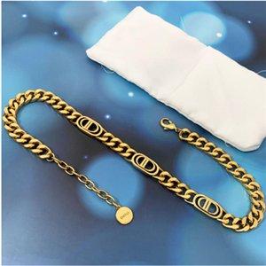 2020 Nouvelle lettre Collier Femmes Célébrité Célébrité Heavy Industrie Bracelet Designer High Edition Collier Bracelet Boucles d'oreilles