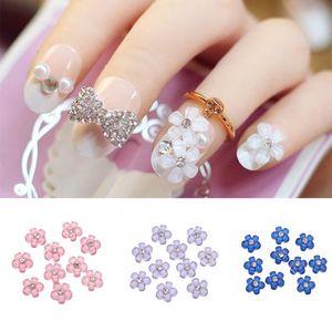 1 10PCS 3D Flower Nail Sticker Rhinestones Diamond Decorations Charms Glitter Manicure Nail Art Jewelry Supplies Tools 5 Colors