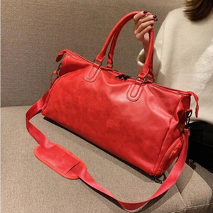 Fashion Black Water Ripple 45CM sports duffle bag red luggage M53419 Man And Women Duffel Bags with lock tag