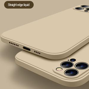 Luxury Original Square Full Protection Liquid Silicone Case For iPhone 12 Pro Max 12MiNi 11 Pro X XR XS Max 7 8 6s Plus SE 2020