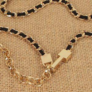 Spring and summer fashion dress accessories women's simple metal decorative waist chain dress accessories women's all-match thin belt