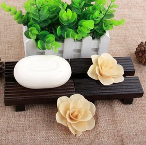 Eco-friendly Bamboo Soap Dish Wooden Soap Tray Holder Storage Box Soap Rack Plate Box Container Bathroom Accessories Z613