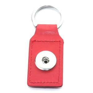Nouveau coeur Cuir Snap Keychains Keychains DIY 18mm Snap KeyRing Lanyard Porte-clés FIT FIT 18MM 20mm Boutons Snap Bijoux Q Wmtksh