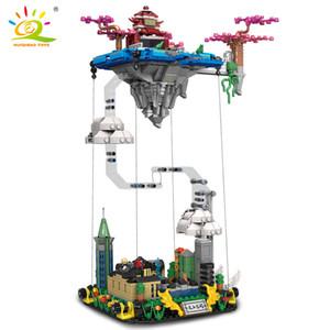 HUIQIBAO 1116 adet Miths Ay Guanghan Heavenly Saray Yapı Taşları Efsaneler Castle Mimarisi Tuğla Set Şehir Oyuncak Çocuklar için