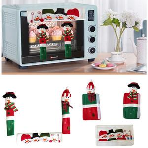 Christmas Microondas Forno Porta Punho de Porta Lugar Glove Glove Refrigerador Anti-estático Porta Dupla Lugar Luva Capa Dha2477