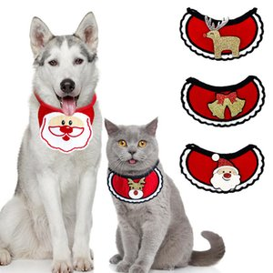 Dogs Bibs Christmas Dog Bandana Pet Supplies Accessories For Dogs Scarf Pets Puppy Appare Accesorios Elk Hair Ornaments OWA2548