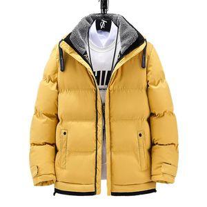 Mode Hommes Parkas Jacket 2020 Hommes d'hiver Épais Bomber Manteaux beaux Casual Solid Street Veste Vêtements pour hommes surdimensionnés 5xl