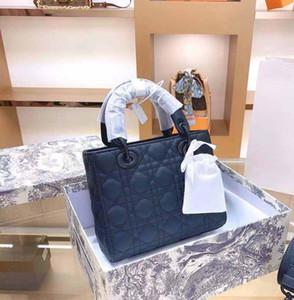 Diseñador de bolsos de lujo Bolsos para mujer 20cm y bolso de hombro de 17 cm de hombro, cuero genuino y tela, bolsa de montar transfronterizos, bolsa de alta calidad