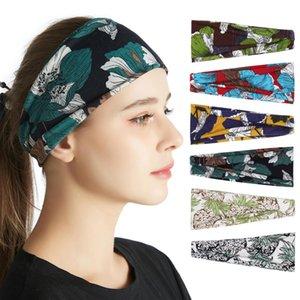51 Colors Yoga Headband Women Gym Sports Flower printed Hairband Elastic Hairlace Bohemia Headress Ins Hair Accessories