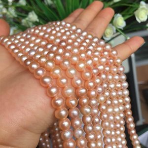 Freshwater Pearl necklace Round shape with Size 6-6.5mm perfect luster for Jewelry DIY loose pearl strands
