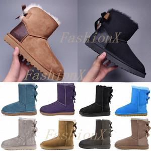 [Expédié dans les 6 jours] Designers Bottes de neige Femme Classique avec Chaussures à fourrure Femme Lady Winter Boff-bas baskets plates de cheville Plateforme 2021 #