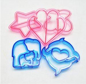 DIY Backformen Puzzle Form Sandwich Mold Cutter Delphin Bär Auto Hund Form Backkuchen Brot Toast Form Kunststoff Küchenwerkzeug GWC5313