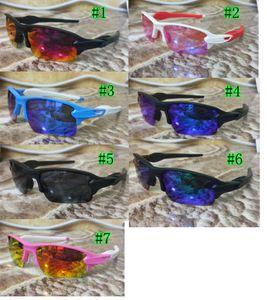 Yaz Adam Yeni Spor Renkli Sürme Gözlük Kadınlar Drving Rüzgar Gözlükleri Erkekler Moda Bisiklet Cam 7 Renkler Polarize Rüzgar Geçirmez Ücretsiz Gemi