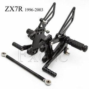الدواسات CNC تعديل قابل للتعديل ل zx7r zx-7r zx 7r 1996-2003 دراجة نارية القدم أوتاد الراحة footpegs nearsets footrest zx7r1