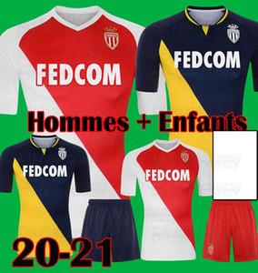 22 20 21 Thailand Quality Monaco Home Soccer Jersey Ben Yedder Gelson .M Jovetic Golovin 2020 2021 Fabregas Keita Balde