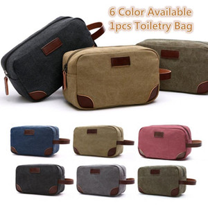 5 Colors Canvas Cosmetics Storage Bag Organizer Portable Travel Wash Bag Makeup Pouch Purse Case Handbag Unisex Multifunction