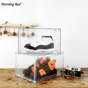 New Sneakers Box Anti Oxidation Shoe Cabinet Hd Transparent Sports Shoes Storage Artifact Space Saving Organizer Plastic Home Z1123