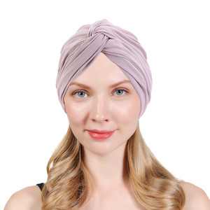 New Turban Hats for women - Stretch Solid Knotted Caps,Chemo Beanies Headwrap for Cancer,Chemotherapy Hair Loss Accessories