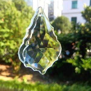 75mm Novo Maple Leaf Crystal Pingentes Clear SunCatcher Cristal Prismas Acessórios para Chandeliers Parte Curtain Wedding Home Decor H Jllgwz