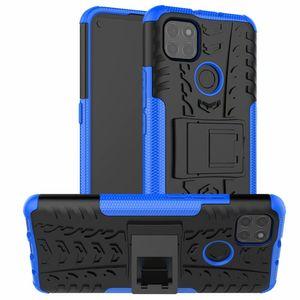 Enchantant Sticker Combo Sticker Hybride Armure neuve sur support Holster Holster Holster Coque de protection pour Motorola Moto G9 Power