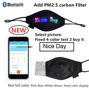 새로운 블루투스 빛나는 마스크 PM2.5 필터 LED 얼굴 마스크 크리스마스 파티 축제 가장 무도회 가벼운 마스크 HH9-3645