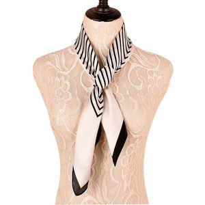 Fashion soft silk neckerchief easy geometric stain scarf wraps new style 70x70 square scarf ladies pashmina shawl