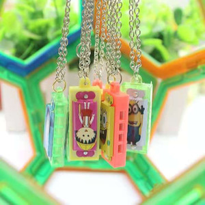 4 hole 4 tone small harmonica children's toy playing necklace key chain cartoon plastic world giveaway small gift