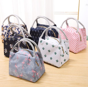 Waterproof lunch bags tote portable lunch box bag kitchen zipper storage bags for outdoor travel picnic thermal bag carry bags DWB3249