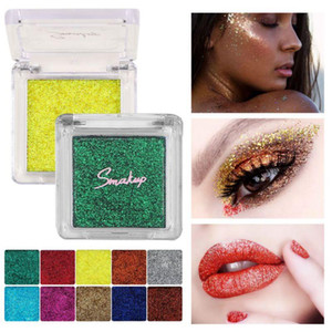 10 Colors Diamond Glitter Eyeshadow Single Palette Makeup Shimmer Metallic Eye Shadow Charming And Generous Affordable Personal